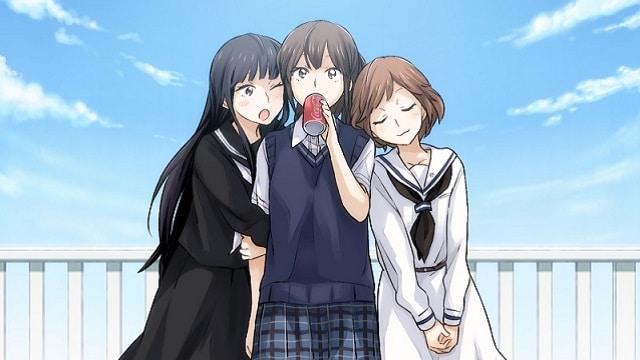Three femme looking people.